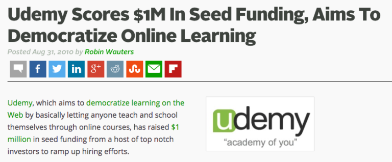 Growth Study: Udemy Seed Round